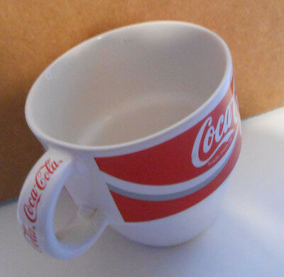 Coca Cola Coke Brand Vigor corp. Coffee Drink Cup 1995 mug red white