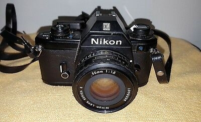 Nikon EM 35mm SLR Camera with Series E 50mm f/1.8 Lens