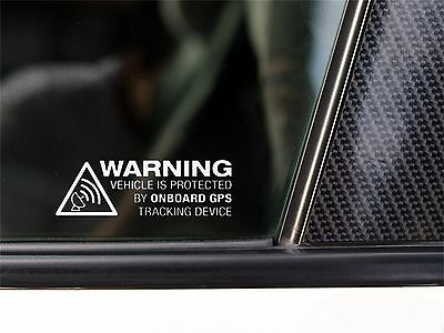 Aufkleber Sticker GPS ON BOARD WARNING Sicherheit anti Diebstahl Tracking System