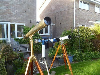 Antique Brass Library Telescope