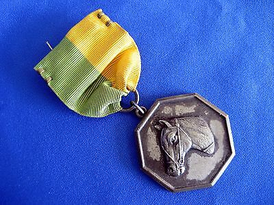 Vintage 1940 Equestrian Horse Show Medal With Ribbon - Very Handsome