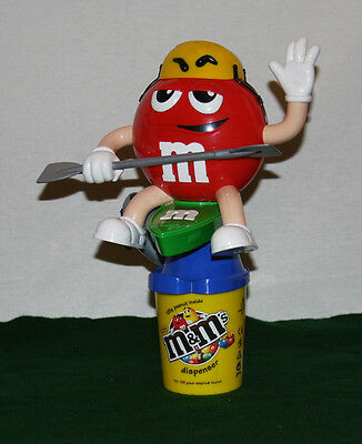 """2007 RARE GERMAN M&M's Candy Large Dispenser """"RED ON A KAYAK"""" Excellent Cond."""