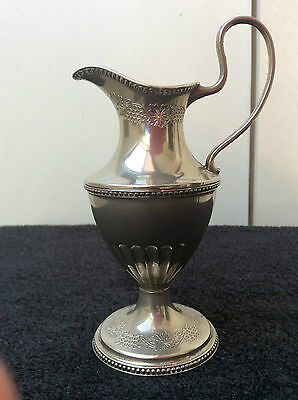 SUPERB RARE VINTAGE ANTIQUE SILVER PLATED CREAMER CREAM PITCHER/JUG 19thC