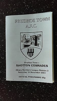 Prudhoe Town V Shotton Comrades 2001-02.