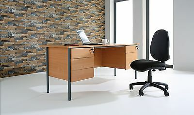 Office or Home Desks Single or Double Pedestal in Oak, Beech or White