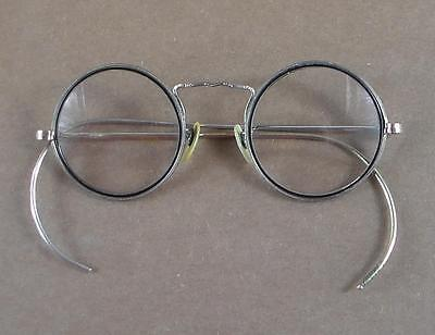 Antique American Optical Cortland Wire Rim Eyeglasses White Gold Filled