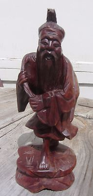 Exceptional Antique Carved Chinese Wooden Figurine Sculpture Statue 19Th Cent?