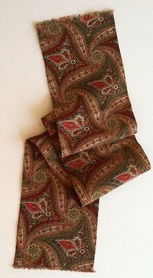 Vintage Wool Challis Neck Scarf Paisley And Gorgeous