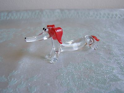 Vintage Pirelli Glass Dachshund dog ornament