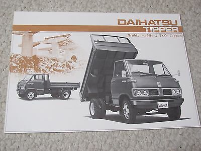 1970's DAIHATSU TIPPER (JAPAN) SALES BROCHURE..