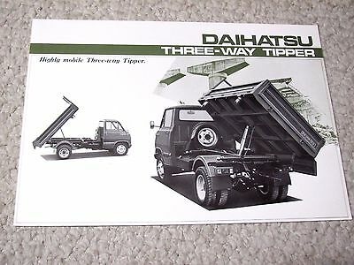 1970's DAIHATSU 3-WAY TIPPER (JAPAN) SALES BROCHURE..