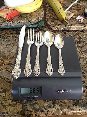 Clean Heavy 5 Pc Gorham Old Baronial Sterling Silver Flatware Set Lunt Eloquence