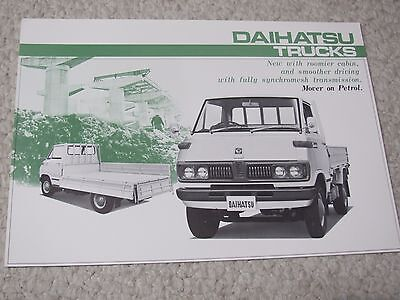1970's DAIHATSU TRUCKS (JAPAN) SALES BROCHURE....