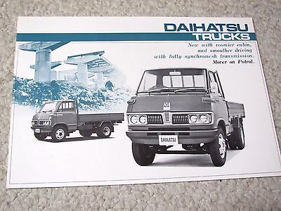 1970's DAIHATSU TRUCKS (JAPAN) SALES BROCHURE