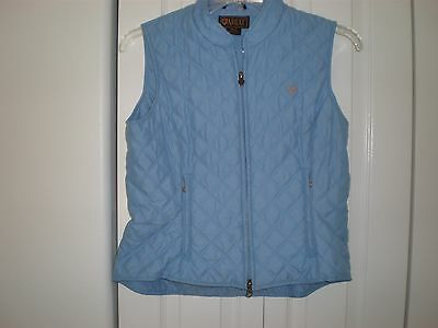 Ariat  Equestrian Riding Vest  Quilted  BLUE  Zip-up Front  Size M