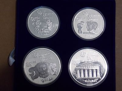 1976 Canada Olympic Games Montreal 4 Coin Silver Proof Set