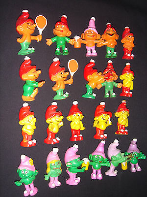 Vintage Lot of 21 Figures Empire Toy Co. Gnomes Smurfs 1970's RARE Collection