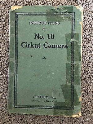 Graflex, No. 10 Cirkut Camera Instruction Book
