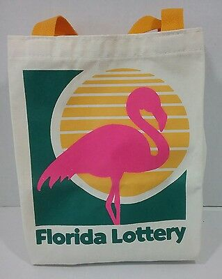 Florida Lottery Pink Flamingo Logo Sunshine State Tote Bag Canvas