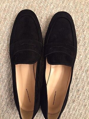 ae41a04e2dd JCREW Charlie Penny Loafers in Suede Flats  168 10 Black F5592 SOLDOUT!