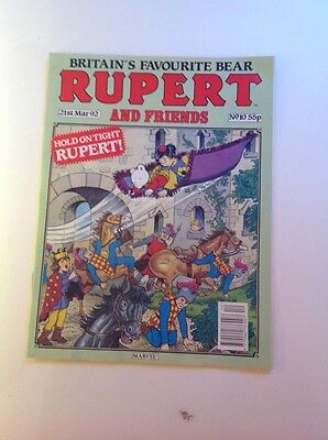 Rupert And Friends British Weekly Comic March 1992
