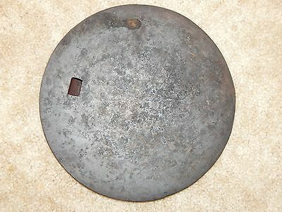 "Antique Cast Iron Cover Plate lid Wood Stove 8 3/16"" Dia."