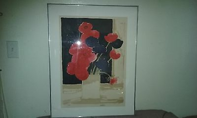 Vintage Modern Bouquet Of Flowers Lithograph Print By Bernard Cathelin