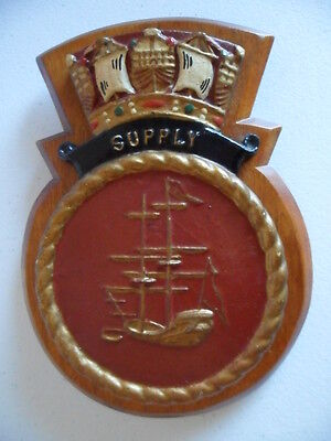 Naval HMAS SUPPLY (AO195)  pre 1975  crest / plaque