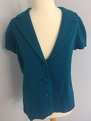 NEW Ann Taylor LOFT Maternity Jacket Blazer Turquoise Blue M Career Casual Soft
