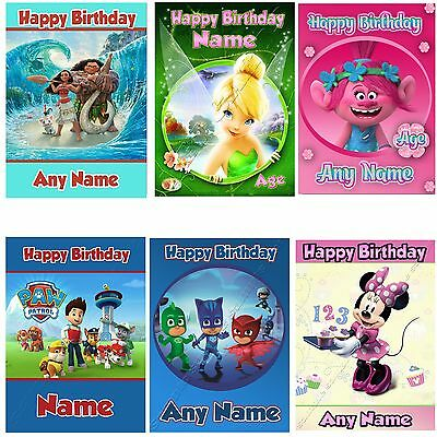 Any Name Age Personalised Selection Of Birthday Cards For Children Boy Girl