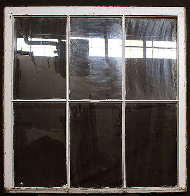 "2 avail 40.5""x44"" Antique Vintage Solid Wood Wooden Sash Window Glass Lite Pane"