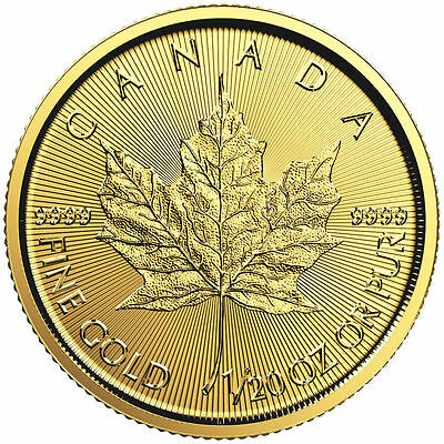 2016 ~1/20~Oz Pure Gold ~ Canada  Maple Leaf ~Bright Uncirculated~Sealed~ $88.88