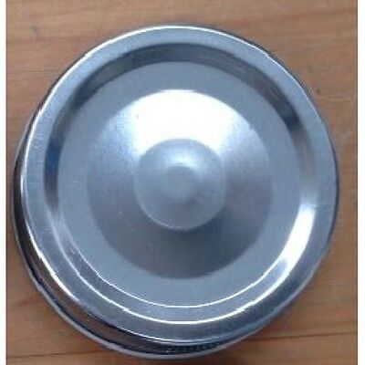 Regular mouth Mason jar Lids,  1 pce Metal Lids  x 12  SILVER
