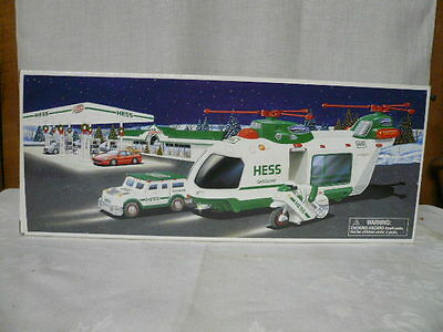 2001 HESS HELICOPTER W. MOTORCYCLE + CRUISER NEW Mint IN BOX Never Opened