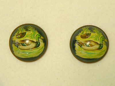 Pair of Victorian Era Horse Bridle Rosette Brooches