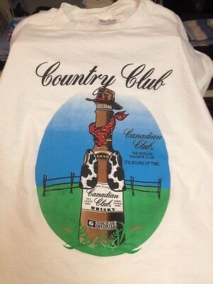 Vintage Country Club Canadian Club Whisky Tee-shirt
