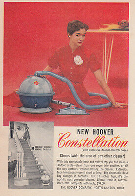 1955 Hoover Constellation Vacuum: Cleans Twice the Area (26568)