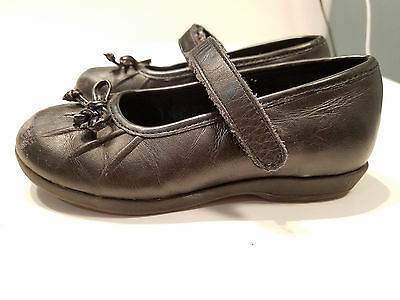 Stride Rite Girl's Geneva Black Leather Mary Jane Shoes Child/Toddler Sz 7.5 M