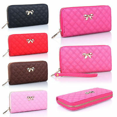 Women Leather Clutch Wallet Long Card Holder Case Purse Handbag (US Seller)