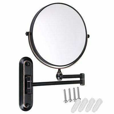 GURUN 8 Inch 10X Magnifying Makeup Mirror Wall Mount Dual Side Oil rubbed Bronze