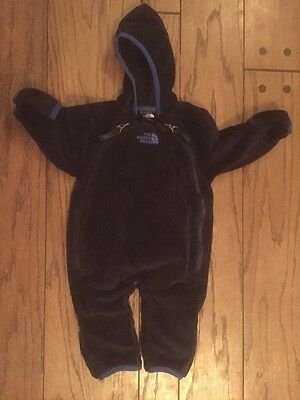 The North Face Blue Fleece Baby Bunting 0-3M