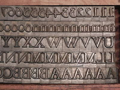48 Point Garamond Light Letterpress Type