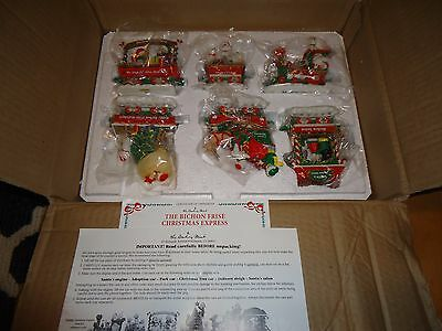 Danbury Mint The Bichon Frise Christmas Express Train New in Box