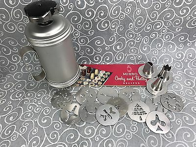 Vintage MIRRO Foley Cookie Pastry Press 12 Plates 3 Pastry Tips Cooky Recipes