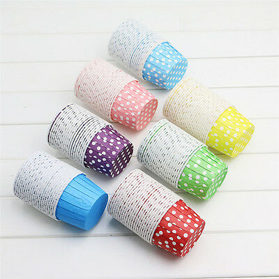 New 20pcs Paper Cake Cupcake Liner Case Wrapper Muffin Baking Cup Party Wedding