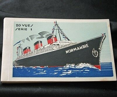 CGT French Line NORMANDIE 20 Postcard Book Series 1