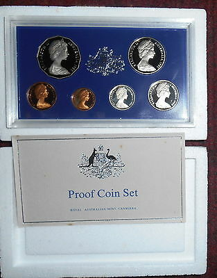 1980 Australia 6 Coin Proof Set With Foams and Certificate