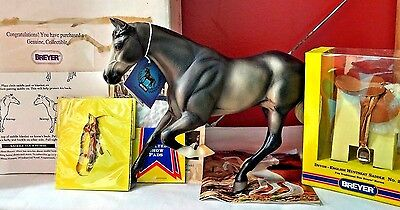 Breyer '02 Show Jumper Gem Twist Dapple Grey Horse w/ Bridle Saddle Pads QVC NIB