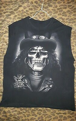 Guns & Roses - Slash (Sleeveless) Skull Shirt, Men's XL