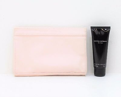 Narciso Rodriguez For Her Body Lotion 75ml & Make-up Pouch* NEW